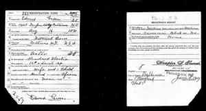 Edward Green Draft Registration Card 1917-1918